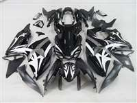 2009-2016 Suzuki GSXR 1000 White Tribal on Black Fairings | NS10916-1