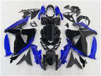 2009-2016 Suzuki GSXR 1000 Black/Blue Fairings | NS10916-13