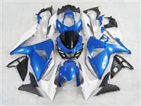 2009-2016 Suzuki GSXR 1000 Plasma Blue/White Fairings | NS10916-16
