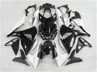 2009-2016 Suzuki GSXR 1000 Black/White Fairings | NS10916-17