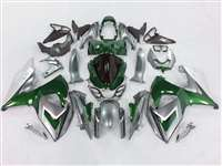 Green/Silver 2009-2016 Suzuki GSXR 1000 Motorcycle Fairings | NS10916-24