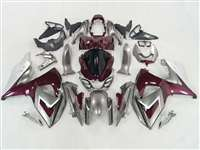 Maroon/Silver 2009-2016 Suzuki GSXR 1000 Motorcycle Fairings | NS10916-25