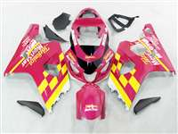 2004-2005 Suzuki GSXR 600 750 Pink Movistar Fairings | NS60405-12