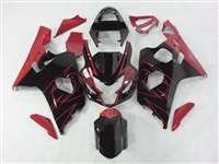 2004-2005 Suzuki GSXR 600 750 Black/Red Accents Fairings | NS60405-15