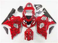 2004-2005 Suzuki GSXR 600 750 Black Fire on Red Fairings | NS60405-2