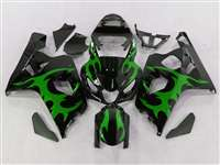 2004-2005 Suzuki GSXR 600 750 Tribal Green Fairings | NS60405-24