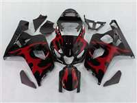 2004-2005 Suzuki GSXR 600 750 Tribal Red Fairings | NS60405-25