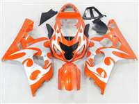 Orange Tribal 2004-2005 Suzuki GSXR 600 750 Motorcycle Fairings | NS60405-27