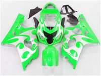 2004-2005 Suzuki GSXR 600 750 Neon Green Tribal Fairings | NS60405-28