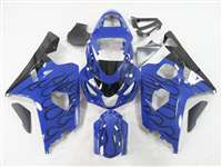 2004-2005 Suzuki GSXR 600 750 Black Fire on Blue Fairings | NS60405-36