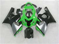 2004-2005 Suzuki GSXR 600 750 Green/Black Fairings | NS60405-37