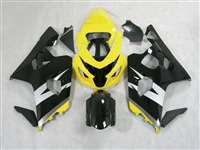 2004-2005 Suzuki GSXR 600 750 Silver/Black/Yellow Fairings | NS60405-39