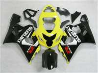 Black/Yellow 2004-2005 Suzuki GSXR 600 750 Motorcycle Fairings | NS60405-40