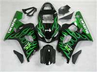 2004-2005 Suzuki GSXR 600 750 Green Fire Fairings | NS60405-41