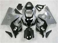 2004-2005 Suzuki GSXR 600 750 Silver/Black Fairings | NS60405-52