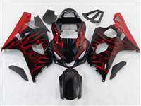 Red Flame 2004-2005 Suzuki GSXR 600 750 Motorcycle Fairings | NS60405-6