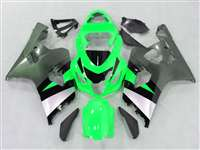 2004-2005 Suzuki GSXR 600 750 Green/Silver Fairings | NS60405-7