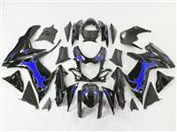 2011-2018 Suzuki GSXR 600 750 Blue Tribal/Black Fairings | NS61117-4