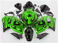 1999-2007 Suzuki GSXR 1300 Hayabusa Evil Green Tribal Fairings | NSH9907-102