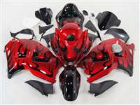 Evil Red Tribal 1999-2007 Suzuki GSXR 1300 Hayabusa Motorcycle Fairings | NSH9907-103