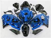 1999-2007 Suzuki GSXR 1300 Hayabusa Evil Blue Tribal Fairings | NSH9907-104