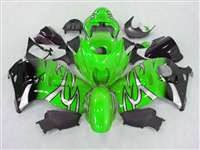 1999-2007 Suzuki GSXR 1300 Hayabusa Green Tribal Fade Fairings | NSH9907-105
