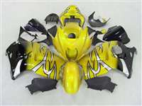 Yellow Tribal Fade 1999-2007 Suzuki GSXR 1300 Hayabusa Motorcycle Fairings | NSH9907-106