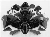 1999-2007 Suzuki GSXR 1300 Hayabusa Grey Flame on Black Fairings | NSH9907-119
