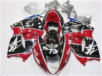 1999-2007 Suzuki GSXR 1300 Hayabusa Black/Red Racing Fairings | NSH9907-125