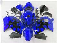 Razor Tribal Blue 1999-2007 Suzuki GSXR 1300 Hayabusa Motorcycle Fairings | NSH9907-27