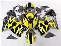1999-2007 Suzuki GSXR 1300 Hayabusa Yellow Tribal Fairings | NSH9907-30