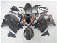 1999-2007 Suzuki GSXR 1300 Hayabusa Charcoal Orange Accent Fairings | NSH9907-31