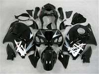 1999-2007 Suzuki GSXR 1300 Hayabusa Silver Tribal on Black Fairings | NSH9907-46