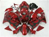 1999-2007 Suzuki GSXR 1300 Hayabusa Candy Red Tribal Fairings | NSH9907-49