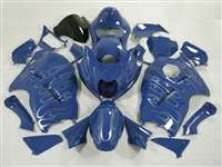 1999-2007 Suzuki GSXR 1300 Hayabusa Blue Ghost Flames Fairings | NSH9907-52