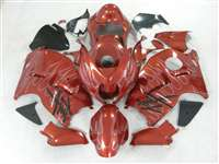 1999-2007 Suzuki GSXR 1300 Hayabusa Burgundy Metallic Ghost Flame Fairings | NSH9907-53