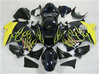 1999-2007 Suzuki GSXR 1300 Hayabusa Yellow Flame/Deep Blue Fairings | NSH9907-64