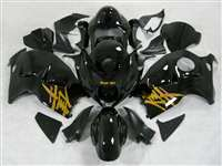 1999-2007 Suzuki GSXR 1300 Hayabusa Yellow Airbrush on Black Fairings | NSH9907-65