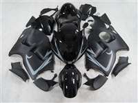 1999-2007 Suzuki GSXR 1300 Hayabusa Satin Black/Grey Accents Fairings | NSH9907-70