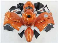 1999-2007 Suzuki GSXR 1300 Hayabusa Sunburst Orange Flames Fairings | NSH9907-71