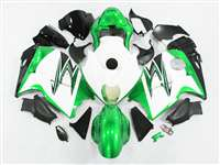 Metallic Green/White 1999-2007 Suzuki GSXR 1300 Hayabusa Motorcycle Fairings | NSH9907-77