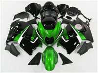 1999-2007 Suzuki GSXR 1300 Hayabusa Motorcycle Candy Green/Black Fairings | NSH9907-90