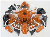 1999-2007 Suzuki GSXR 1300 Hayabusa Custom Orange Tribal Fade Fairings | NSH9907-91