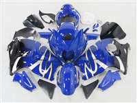 1999-2007 Suzuki GSXR 1300 Hayabusa Silver Tribal on Blue Fairings | NSH9907-93