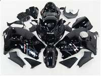 1999-2007 Suzuki GSXR 1300 Hayabusa Silver Airbrush on Black Fairings | NSH9907-98