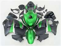 1999-2007 Suzuki GSXR 1300 Hayabusa Candy Green/Black Fairings | NSH9907-99