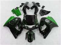 1996-2000 Suzuki GSXR 600 750 SRAD Green Flame Fairings | NSS9600-1