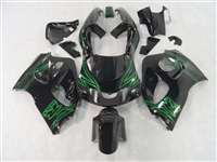 Airbrush Green 1996-2000 Suzuki GSXR 600 750 SRAD Motorcycle Fairings | NSS9600-13