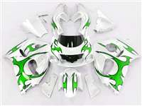 1996-2000 Suzuki GSXR 600 750 SRAD Green Tribal Fairings | NSS9600-23