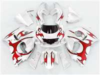 Red Tribal 1996-2000 Suzuki GSXR 600 750 SRAD Motorcycle Fairings | NSS9600-25